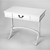 This item: Masterpiece Alta White Writing Desk