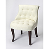 This item: Beige and Cherry Mona Linen Slipper Chair