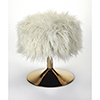 This item: Butler Loft Polished Gold Nona Faux Fur Stool
