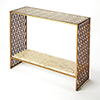 This item: Cosmopolitan Multicolor Cambria Fossil Stone and Metal Console Table