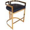 This item: Clarence Gold and Black Bar Stool