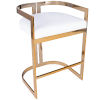 This item: Clarence Polished Gold and White Bar Stool