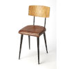 This item: Brown 32-Inch Side Chair