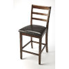 This item: Plato Dark Brown Pub Stool