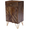 This item: Alda Brown and Brass Chairside Chest