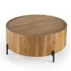 This item: Masterpiece Tori Teak and Black Coffee Table