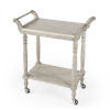 This item: Masterpiece Danielle Gray Serving Cart