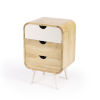 This item: Butler Loft Danville Light Brown and White End Table with Storage