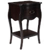 This item: Rochelle Chocolate One Drawer Nightstand