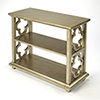 This item: Masterpiece Silver Leaf Paloma Bookcase