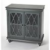 This item: Masterpiece Lansing Twilight Blue Two-Door Accent Cabinet