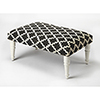 This item: Butler Lucinda Black and White Upholstered Cocktail Ottoman