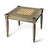 This item: Vincent Silver Satin Multi Game Table