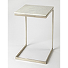 This item: Lawler Nickel Metal and Marble End Table