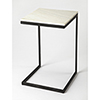 This item: Lawler Black Metal and Marble End Table