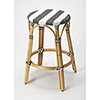 This item: Butler Tobias Blue and White Rattan Counter Stool