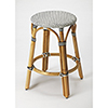 This item: Butler Tobias Black and White Rattan Counter Stool