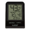 This item: Black Wireless Thermometer with Indoor/Outdoor Temperature and Time