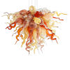 This item: Desert Rose Copper Red and Beige Six-Light LED Chandelier