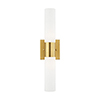 This item: Aero Satin Brass 18-Inch Two-Light ADA Bath Vanity with Hand Blown Satin Opal White Twist Lock Glass