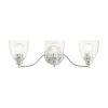 This item: Montgomery Polished Chrome Three-Light Bath Vanity Sconce