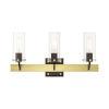 This item: Beckett Satin Brass Three-Light Bath Vanity Sconce