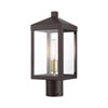 This item: Nyack Bronze and Antique Brass Cluster One-Light Outdoor Post Light