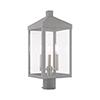 This item: Nyack Nordic Gray Three-Light Post Top Lantern