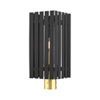This item: Greenwich Black and Satin Brass One-Light Outdoor Post Light
