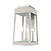This item: Oslo Brushed Nickel 20-Inch Three-Light Outdoor Wall Lantern