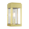 This item: York Satin Brass One-Light Outdoor ADA Wall Sconce
