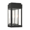 This item: York Black Eight-Inch Two-Light Outdoor Wall Lantern