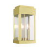 This item: York Satin Brass Eight-Inch Two-Light Outdoor Wall Lantern