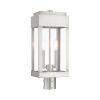 This item: York Brushed Nickel Two-Light Outdoor Post Lantern