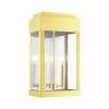 This item: York Satin Brass 10-Inch Two-Light Outdoor Wall Lantern
