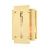 This item: Utrecht Satin Brass 10-Inch One-Light Outdoor Wall Lantern