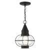 This item: Newburyport Black One-Light Outdoor Pendant
