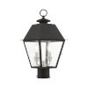 This item: Mansfield Black Two-Light Outdoor Post Lantern
