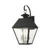This item: Mansfield Black Three-Light Outdoor Wall Lantern