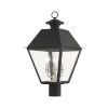 This item: Mansfield Black Three-Light Outdoor Post Lantern