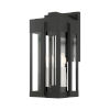 This item: Lexington Black Eight-Inch Three-Light Outdoor Wall Lantern