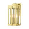 This item: Lexington Natural Brass Eight-Inch Three-Light Outdoor Wall Lantern