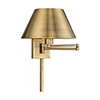 This item: Swing Arm Wall Lamps Antique Brass 13-Inch One-Light Swing Arm Wall Lamp with Hand Crafted Satin Brass Metal Shade