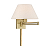 This item: Swing Arm Wall Lamps Antique Brass 13-Inch One-Light Swing Arm Wall Lamp with Hand Crafted Oatmeal Hardback Shade