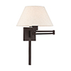 This item: Swing Arm Wall Lamps Bronze 13-Inch One-Light Swing Arm Wall Lamp with Hand Crafted Oatmeal Hardback Shade