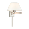 This item: Swing Arm Wall Lamps Brushed Nickel 13-Inch One-Light Swing Arm Wall Lamp with Hand Crafted Off-White Hardback Shade