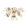 This item: Circulo Satin Brass 24-Inch Four-Light Ceiling Mount with Satin Brass Discs and Glass Discs