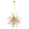 This item: Circulo Satin Brass Six-Light Pendant Chandelier