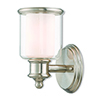 This item: Middlebush Brushed Nickel One-Light Wall Sconce