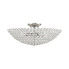 This item: Cassandra Brushed Nickel 20-Inch Four-Light Ceiling Mount with Clear Crystals